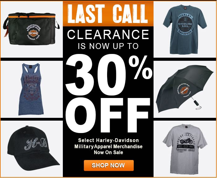 Summer Clearance Blowout Harley Davidson Military Sales