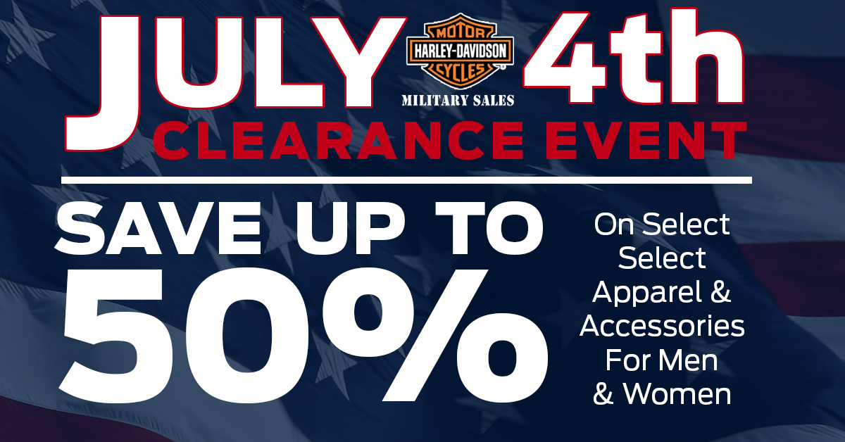 Harley Davidson Fourth Of July Sale Free Shipping Harley